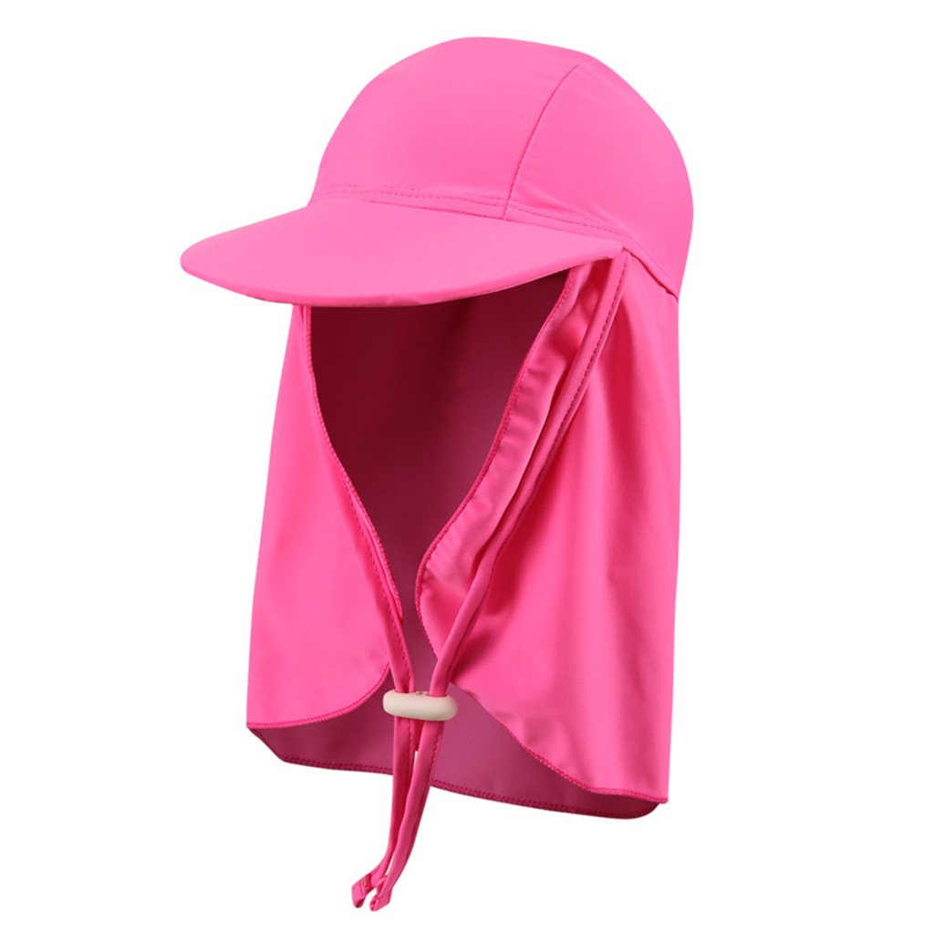 Sun Visor Cap - Kids Sun Hat Sun Protection Sporty Flap Swim Beach Hat Boating Cycling Fishing Cap UV Flap Cap for Boys and Girls Zhongding
