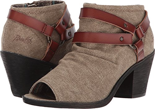Blowfish Women's Skraa Cocoa Rancher Canvas/Scotch Dyecut Pu Boot