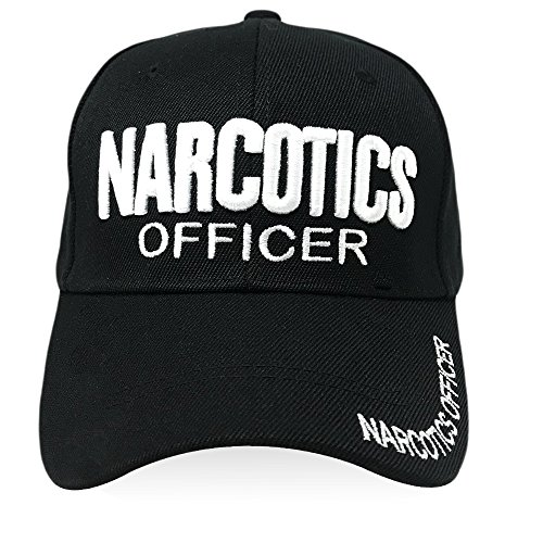 w Enforcement Hat - Size Adjustable Embroidered Design Baseball Headwear for Daily Occasion - Narcotics Black ()