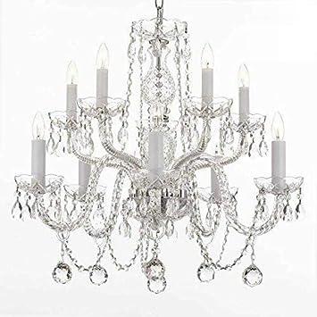 Swarovski Crystal Trimmed Chandelier All Crystal Chandelier Lighting Chandeliers With 40MM Crystal Balls