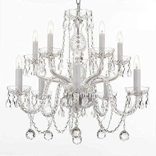 Chandelier Made with Swarovski Crystal! All Crystal Chandelier Lighting Chandeliers with 40MM Crystal Balls!