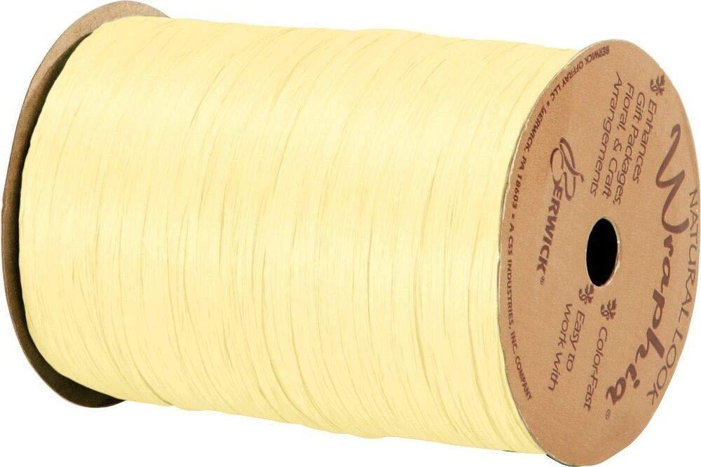 74900-05 Matte Yellow Wraphia Ribbon 1//4 x 100 Yards