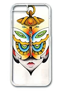 Butterfly Anchor Face Custom iphone 6 plus 5.5 inch Case Cover Polycarbonate Transparent