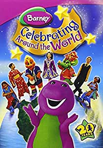 Barney Celebrating Around Wrld