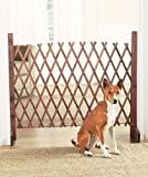 Expanding Portable Fence Wooden Screen Pet Gate Kid Safety Dog Lawn Patio Garden