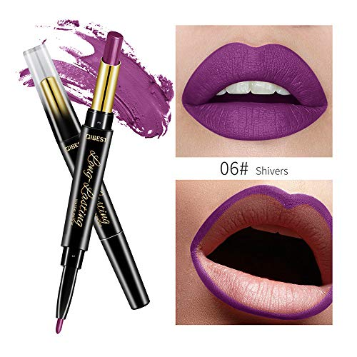 Star_wuvi Matte Makeup Lipstick Lip Gloss Waterproof Matte Long Lasting Vintage Style Soft Lip Gloss Color