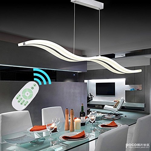 Modern Single Light Drum (Modern Led Chandelier Ceiling Lights For Living Room Acrylic Stainless Pendant Lamps Lustre Lamparas De Techo Bar Home Restaurant Dining Lighting Support Dimming With Remote)
