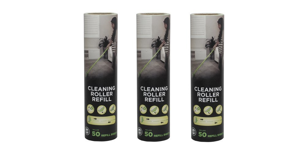 Leo Cleaning Roller Refill (3 Pack) for Pet's Hair Removal & Household Cleaning Great for Dog and Cat Hair