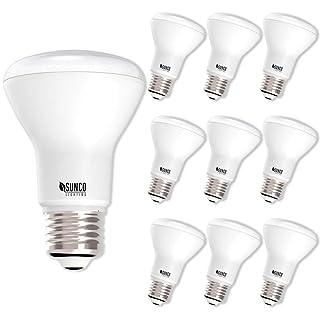 Sunco Lighting 10 Pack BR20 LED Bulb, 7W=50W, Dimmable, 3000K Warm White, E26 base, Flood Light for Home or Office Space - UL & Energy Star