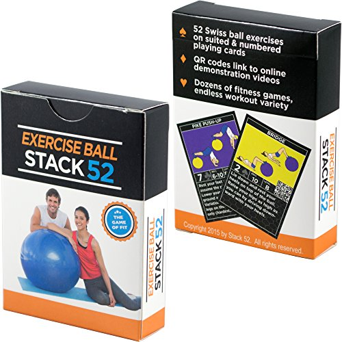 Exercise-Ball-Fitness-Cards-by-Stack-52-Swiss-Ball-Workout-Playing-Card-Game-Video-Instructions-Included-Bodyweight-Training-Program-for-Balance-and-Stability-Balls-Get-Fit-at-Home