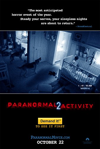Paranormal Activity 2 Original Movie Poster 27''x40'' by Silver Screen Poster