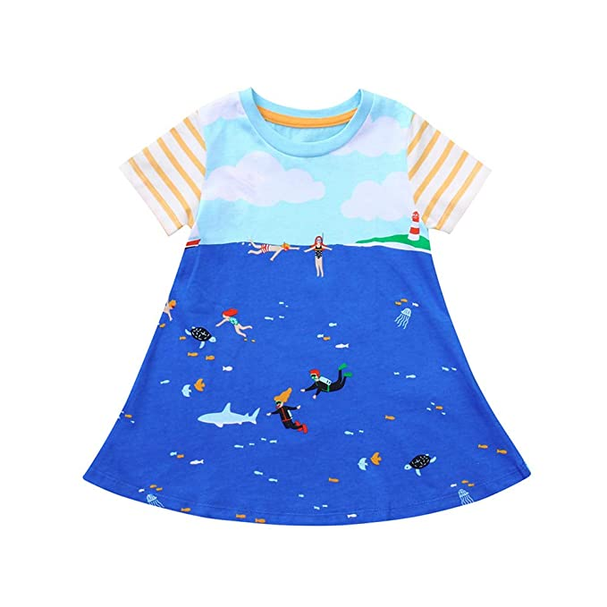 Amazon.com: Vestido de una pieza para bebé, niña, playa ...