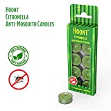 Hoont Citronella Mosquito Repellent Tea light Candles – 10 Pack – Pleasant Lemon Aroma Natural Mosquito Repellent – Highly Concentrated Formula and Extremely Effective