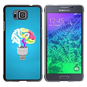 Paccase / SLIM PC / Aliminium Casa Carcasa Funda Case Cover - Funny Brain Light - Samsung GALAXY ALPHA G850