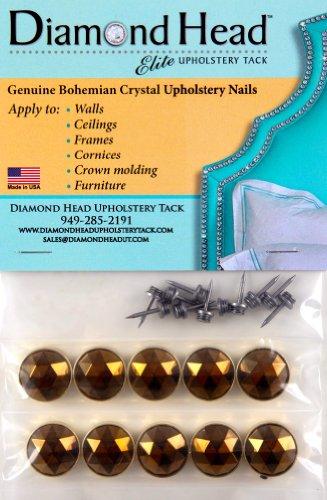 Diamond Head Upholstery Tack Crystal Stone, Brazilian Glo...