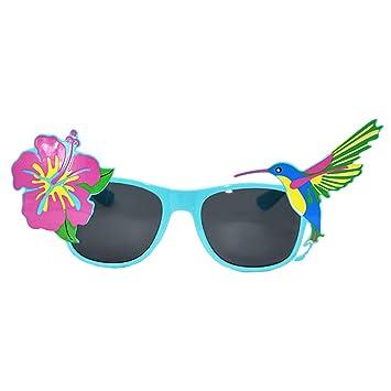 Amosfun 2 unids Gafas de Sol Hawaianas Novedad Flor pájaro ...
