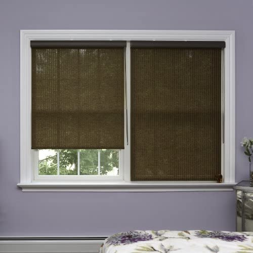 Best Home Fashion Closeout Premium Single Roller Window Shade – Brown – 36 1 4 W x 64 L