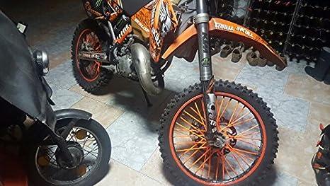 19-21 Rims KTM KTM SX SXF EXC XC XCF XCW MX Dirt Bike 72 Pcs Orange Motorcycle Spoke Covers Guards