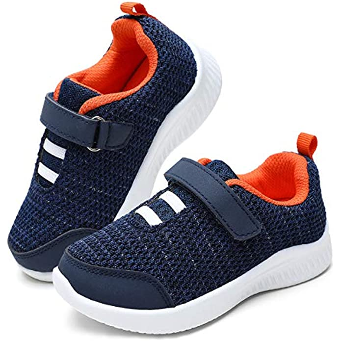 okilol Toddler Boy Shoes Kids Athletic Running Sneaker for Playground Fun, Active Play, School