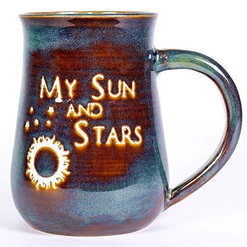 (My Sun and Stars Handmade Pottery Mug)