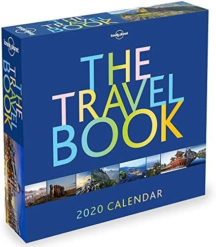 Deluxe 2020 Daily Travel Destinations 365 Daily Pages Box Calendar with Over 100 Calendar Stickers Daily Travel Destinations 2020 Calendar Box Edition Bundle