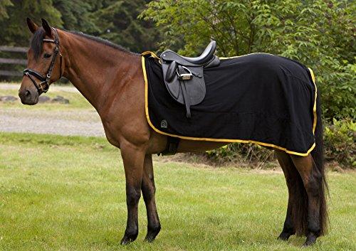 EOUS Fleece Quarter Sheet Horse Blanket, Black, Large