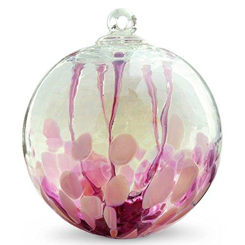 - Medusa Spirit Ball 'Tea Rose Witch Ball by Iron Art Glass Designs