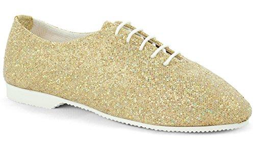 Dance Gear danse Gold de GJSR Sole Sole Chaussures Glitter Eq6gHafx