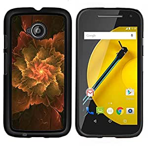 For Motorola Moto E2 E2nd Gen Case , Extracto de la hoja- Diseño Patrón Teléfono Caso Cubierta Case Bumper Duro Protección Case Cover Funda