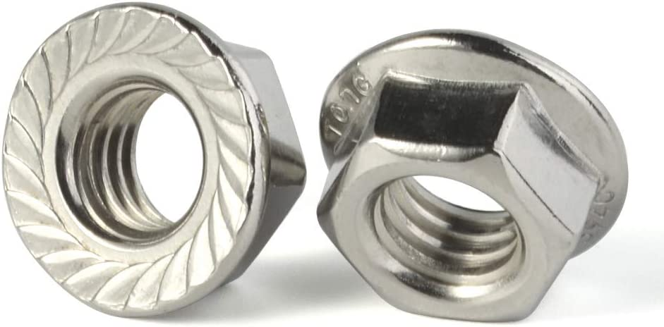 Quantiy 25 5//16-18 Serrated Flange Nuts Stainless Steel 18-8