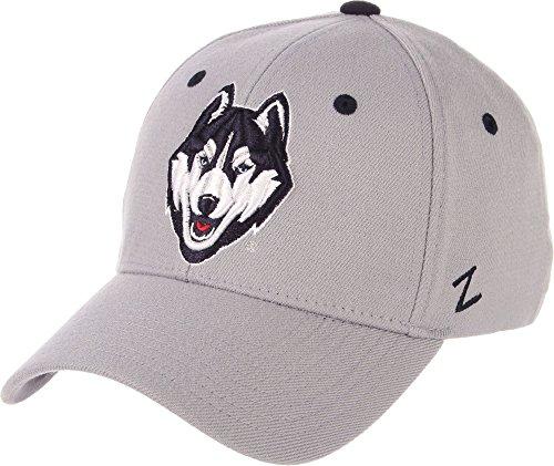 Zephyr Men's UConn Huskies Grey Wool Fitted Hat - L