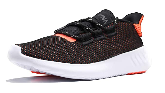 Amazon.com  illikkuyax Fashion Womens Running Shoes Lightweight Sneakers  Non Slip Casual Walking Athletic Sport Shoes Black-Orange  Clothing 7f45a2fad4