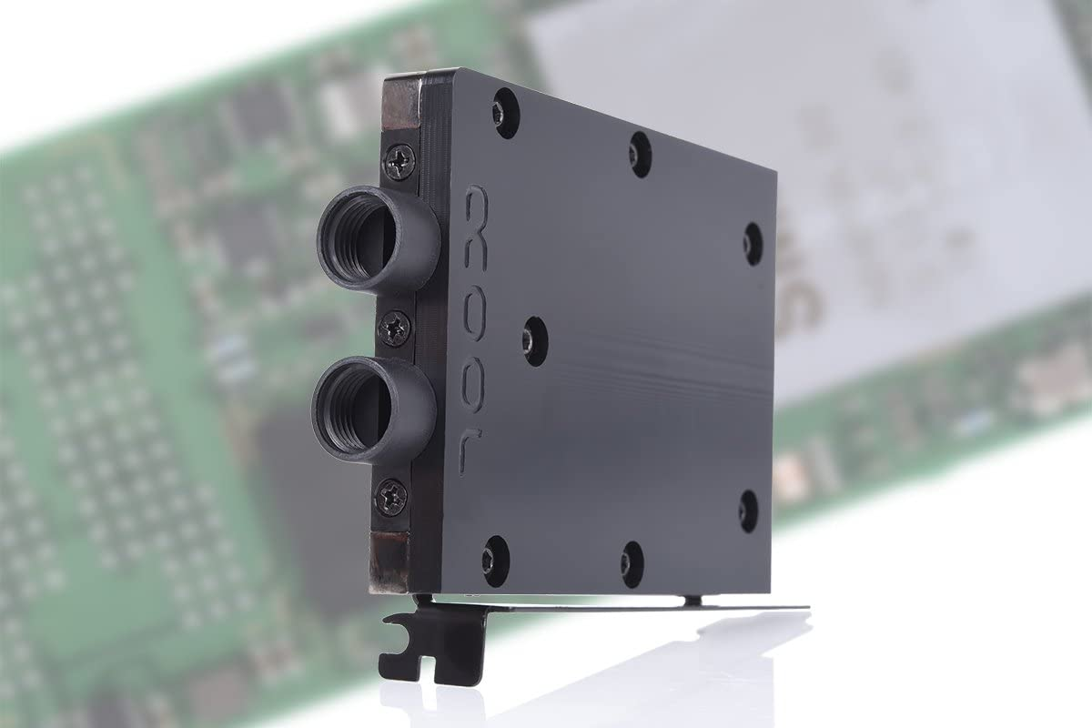 Alphacool 11435 Eisblock HDX-3 PCI-e 3.0 x4 Adaptor for M.2 NGFF with Water Cooling Block - Black Water Cooling HDD/RAM Cooler