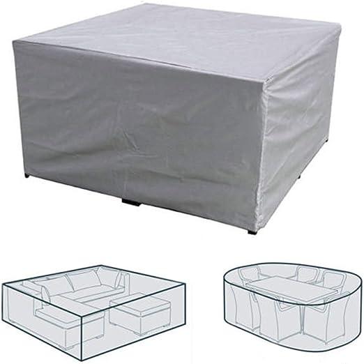 STARKWALL Cubierta De Muebles De Exterior Impermeable Jardín Patio Mesa Chiar Cubre Sofá De Mimbre Conjunto Protección Lluvia Polvo De Nieve Cubierta De Prueba: Amazon.es: Jardín