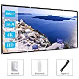 120 Inch Projector Movie Screen, ASINNO Portable Folding Indoor Outdoor 4K HD 16:9 Movie Projection Screen for Meeting/Home/Cinema/Theater /Presentation