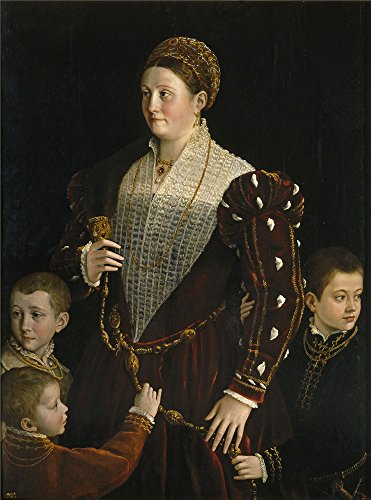 Oil Painting 'Parmigianino Camilla Gonzaga Countess Of San Segundo And Her Sons Ca. 1534' 18 x 24 inch / 46 x 62 cm , on High Definition HD canvas prints, - Gifts Her Woolworths For