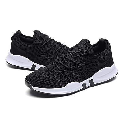 Mens Running Shoes Mesh Air Trainers Jogging Fitness Sport Shock Absorbing Gym Athletic Sneakers Multisport Running Walking Black