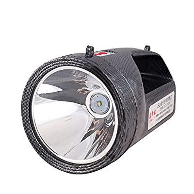 XINLY-3315 Super Practical LED Waterproof Rechargeable Portable Searchlight, LampLight with Zooming Len,15W CREE T6 LED Searchlight, 4000mAh,Black