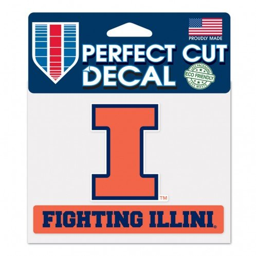 WinCraft NCAA University of Illinois WCR62817024 Perfect Cut Color Decal, 4.5
