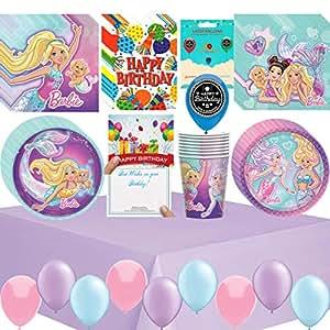 Amazon.com: Barbie - Juego de servilletas para fiestas de ...