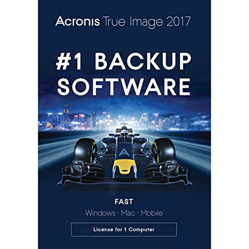 Hard Drive Backup Software - Acronis True Image 2017 - 1 Computer