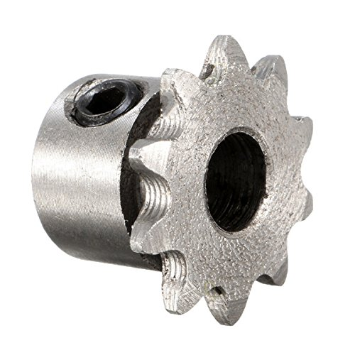 - 8mm Bore 10 Teeth Metal Gear Motor Roller Chain Drive Sprocket