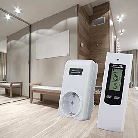 rf433.92mhz Prise T/él/écommande Thermostat Plug-in /à distance sans fil avec /écran LCD large /électrique chauffage et le refroidissement R/égulateur de temp/érature