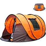 Oileus XL Instant Pop Up Tents Camping 5-6 Person Tent Sky-Window Easyup-Fast Pitch & Fold 14 Reinforced Steel Stakes & Carrying Bag Ideal Family Backpacking Hiking