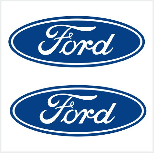 Ford Logo Decals (2pcs Ford Logo Decals Stickers Blue M1 6