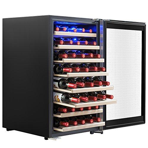AKDY 52 Bottles Built-in Compressor Single Zone Adjustable Touch Control Panel Freestanding Wine Cooler Refrigerator For Sale