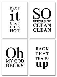 Amazon.com: Confetti Fox Funny Bathroom Quotes and Sayings ...