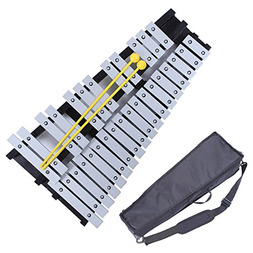Xylophone Glockenspiels - Mr.Power Foldable Glockenspiel Xylophone Vibraphone Percussion Instrument 30NOTES