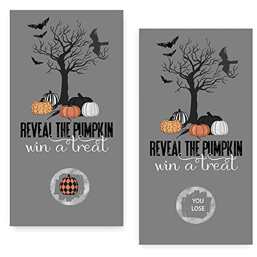 Pumpkin Party Scratch Off Game Cards 28 Pack (3 Winners) by Paper Clever Party