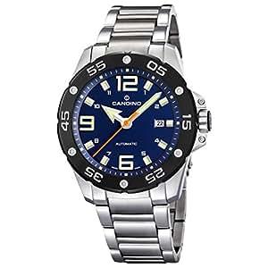 Candino C4452/2 - Reloj de caballero automático swiss made, cadena de acero y cristal zafiro